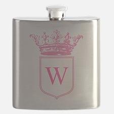 Vintage Crown Monogram Flask