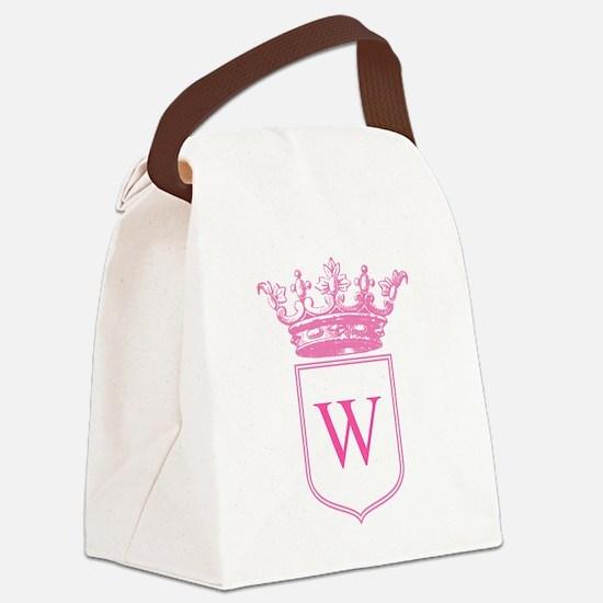 Vintage Crown Monogram Canvas Lunch Bag