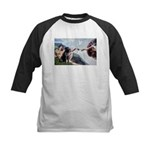 CREATION / Black Lab (#2) Kids Baseball Jersey