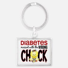 - Diabetes Messed With Wrong Ch Landscape Keychain