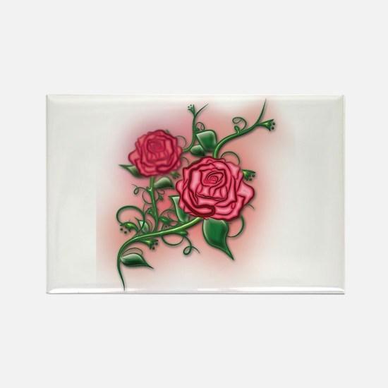 Pink Rose Vine Magnets