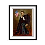 Lincoln & his Black Lab Framed Panel Print