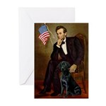 Lincoln & his Black Lab Greeting Cards (Pk of 10)