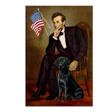 Lincoln & his Black Lab Postcards (Package of 8)