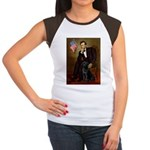Lincoln & his Black Lab Women's Cap Sleeve T-Shirt
