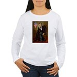 Lincoln & his Black Lab Women's Long Sleeve T-Shir
