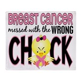 Breast cancer messed with the wrong chick Fleece Blankets
