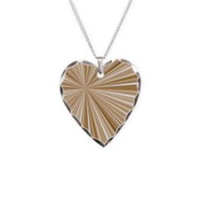 Converging Stripes Browns Necklace