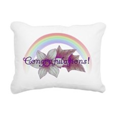 Rainbow Marriage Congrat Rectangular Canvas Pillow