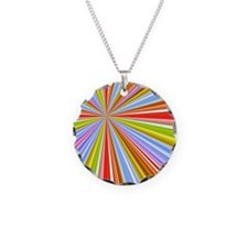 Colorful Converging Strpes Necklace