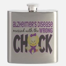- Alzheimers Messed With Wrong Chick Flask