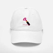 Hot Pink Lips n Lipstick Name Baseball Baseball Cap