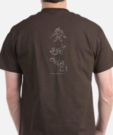 Origami With People (front, reverse) T-Shirt