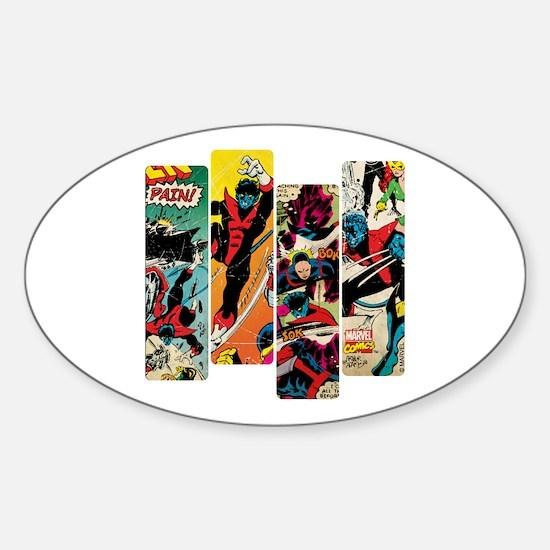 Nightcrawler Comic Panel Sticker (Oval)