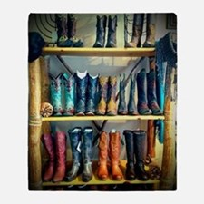 Cowboy Boots Throw Blanket