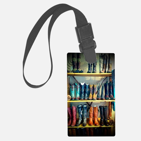 Cowboy Boots Large Luggage Tag