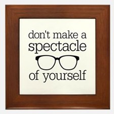 Spectacle of Yourself Framed Tile