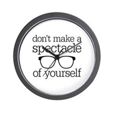 Spectacle of Yourself Wall Clock