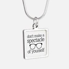 Spectacle of Yourself Silver Square Necklace