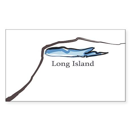 Long Island New York Rectangle Sticker