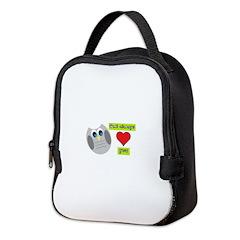 Owl always love you Neoprene Lunch Bag