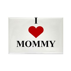 I Love (heart) Mommy Rectangle Magnet