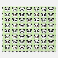 Cute Panda Expressions Pattern King Duvet