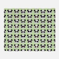 Cute Panda Expressions Pattern Throw Blanket
