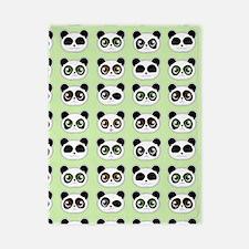 Cute Panda Expressions Pattern Twin Duvet