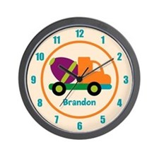 Personalized Construction Wall Clock
