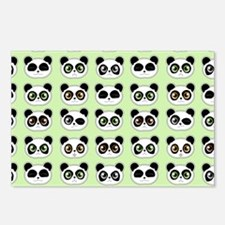 Cute Panda Expressions Pattern Postcards (Package