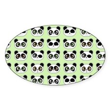 Cute Panda Expressions Pattern Decal