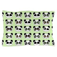Cute Panda Expressions Pattern Pillow Case