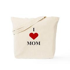 I Love (heart) Mom Tote Bag
