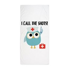 Owl Nurse Beach Towel