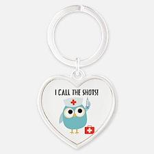 Owl Nurse Heart Keychain
