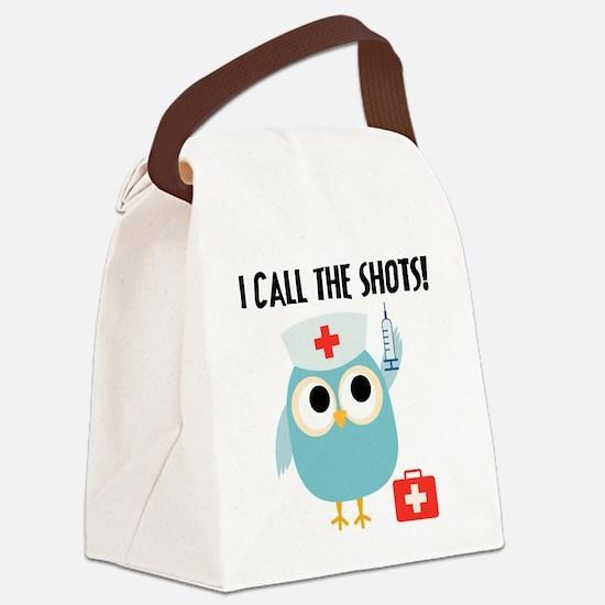 Owl Nurse Canvas Lunch Bag