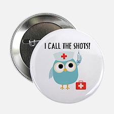 """Owl Nurse 2.25"""" Button"""