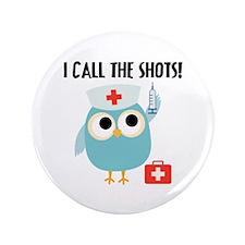 """Owl Nurse 3.5"""" Button"""