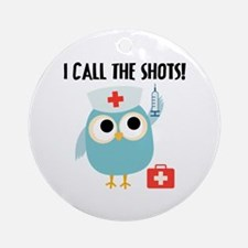 Owl Nurse Ornament (Round)