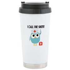 Owl Nurse Stainless Steel Travel Mug