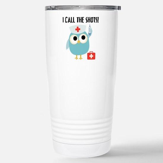 Owl Nurse Stainless Steel Travel Mug