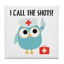Owl Nurse Tile Coaster