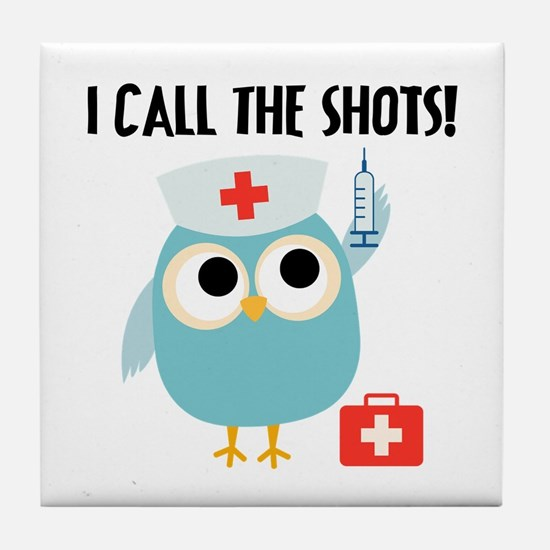 Owl Nurse Tile Coaster