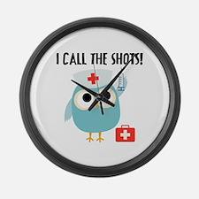 Owl Nurse Large Wall Clock