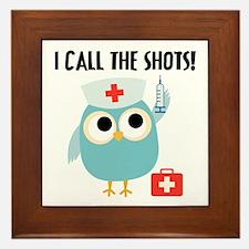 Owl Nurse Framed Tile