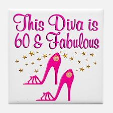 60TH DIVA Tile Coaster