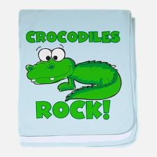 Crocodiles Rock baby blanket