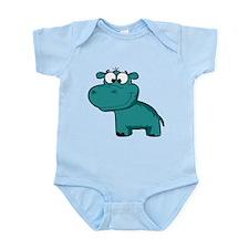 Blue Happy Hippo Body Suit