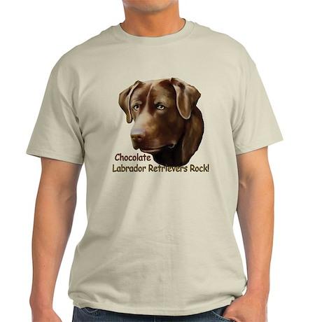 Chocolate Labs Rock Light T-Shirt